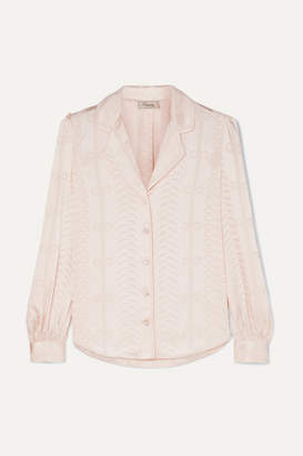 Temperley London Erika Satin-jacquard Shirt - Pastel pink