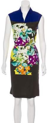 Etro Floral Print Sheath Dress
