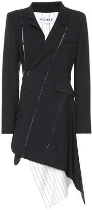 Monse Stretch-wool blazer minidress
