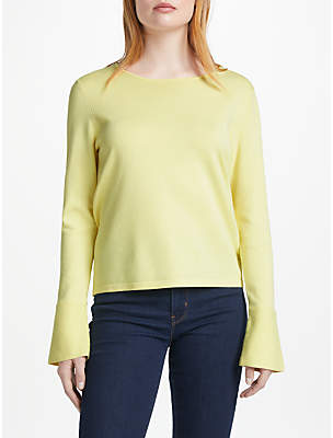 Oui Lace Back Jumper, Light Yellow