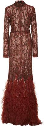 J. Mendel Long Sleeve Gown