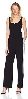 Donna Morgan Women's Sleeveless Jumpsuit with Leg Stripe