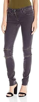 G-Star Raw Women's Lynn Mid Rise Custom Skinny Fit Colored Jean in Slander Superstretch Overdye $180 thestylecure.com