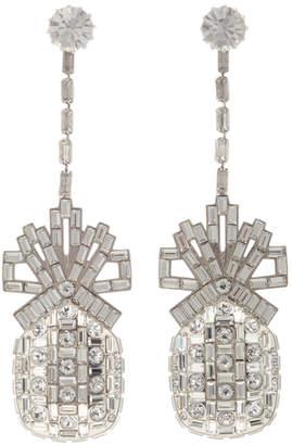 Swarovski Brandon Maxwell Pineapple Crystal Drop Earring