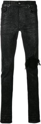 Amiri ripped knee glitter jeans