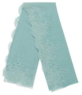 Valentino Wool-Blend Lace Scarf