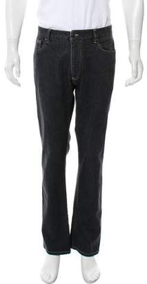 Canali Cropped Straight-Leg Jeans