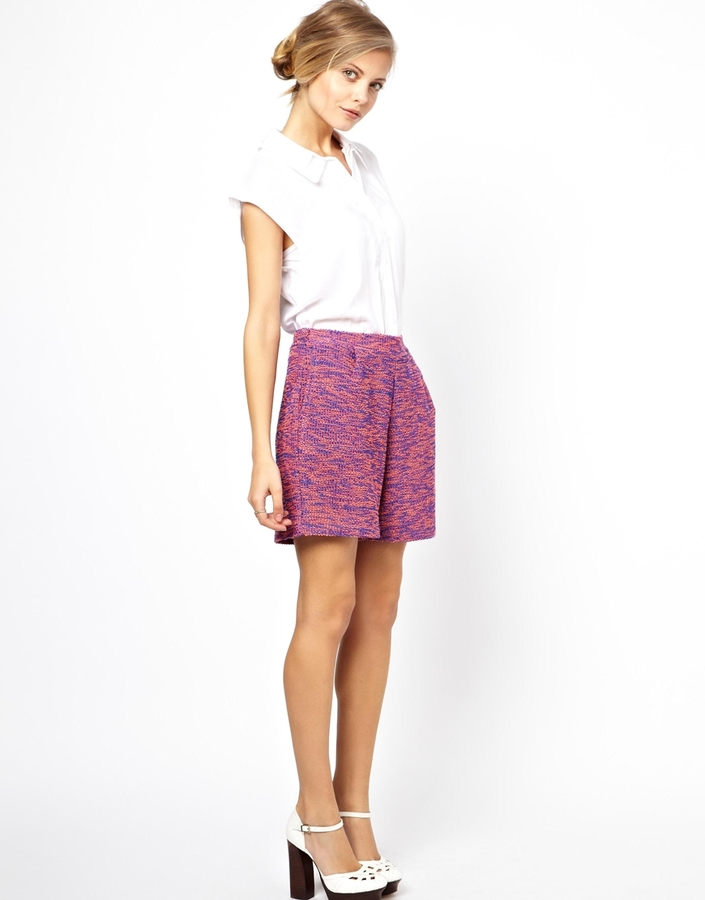 Asos Shorts in Longline Textured Boucle