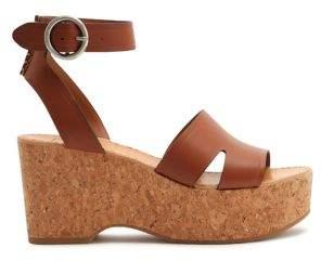 Dolce Vita Lina Leather Platform Sandals