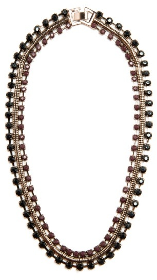Violeta BY MANGO Rhinestone Chocker