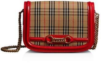 Burberry 1983 Check Link Medium Fabric & Patent Leather Shoulder Bag