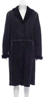 Calvin Klein Collection Longline Shearling Coat