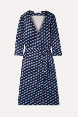 Diane von Furstenberg New Julian Printed Silk-jersey Wrap Dress - Blue
