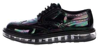 Prada Metallic Levitate Derby Shoes