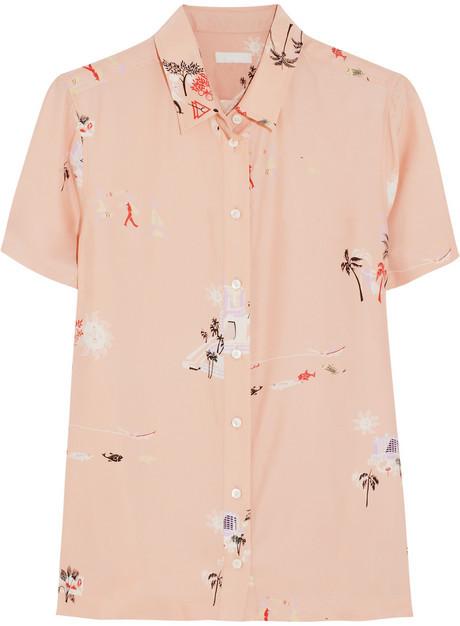 J.Crew Vacationland printed silk shirt