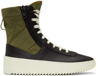 Fear Of God Black and Green Jungle High-Top Sneakers