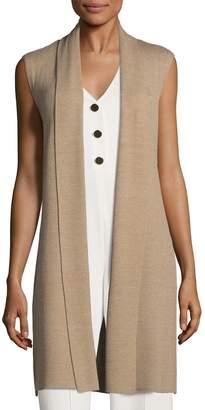 Alice + Olivia Women's Randi Long Open Front Ribbed Wool Vest