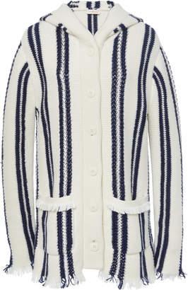 Tory Burch Striped Sweater Coat
