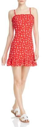 Aqua Floral-Print Ruffled Dress - 100% Exclusive