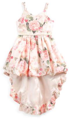 Big Girls Floral Hi-lo Special Occasion Dress