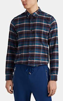 Paul Smith Men's Plaid Cotton Flannel Button-Down Shirt - Blue