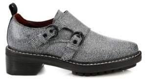 Rag & Bone Konrad Monk Strap Embossed Leather Oxfords