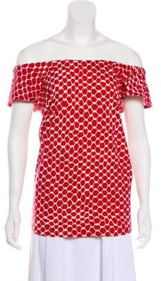 Marc Jacobs Off-The-Shoulder Printed Top