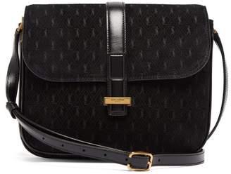 Saint Laurent Monogramme Suede Shoulder Bag - Womens - Black