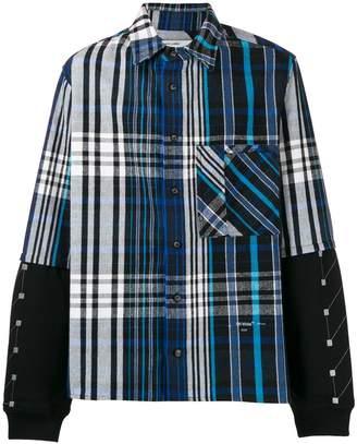 Off-White plaid two-layer shirt