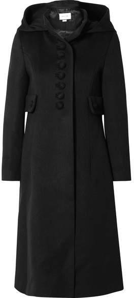 Gucci - Hooded Wool Coat - Black