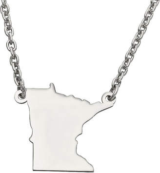 FINE JEWELRY Personalized Sterling Silver Minnesota Pendant Necklace