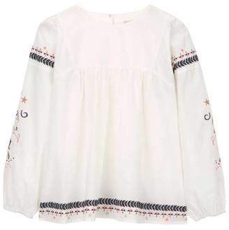 Mint Velvet Ivory Embroidered Blouse