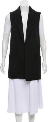 Michael Kors Wool-Blend Open Front Vest