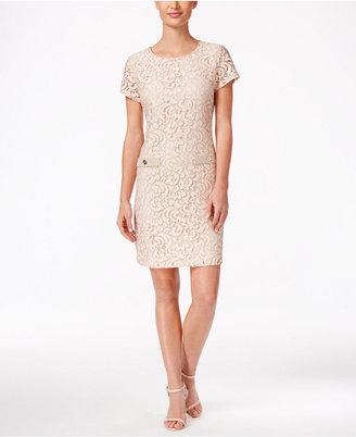 Tommy Hilfiger Lace Shift Dress $139 thestylecure.com