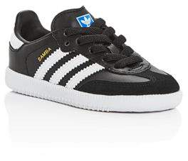 adidas Unisex Samba Leather & Suede Lace Up Sneakers - Walker, Toddler