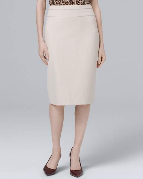 Whbm Herringbone Suiting Pencil Skirt