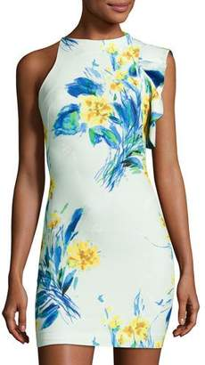 Black Halo Pabla Sleeveless Floral Jersey Cocktail Dress, Something Borrowed