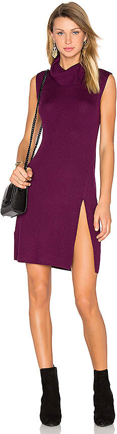 BCBGMAXAZRIA Side Slit Sweater Dress in Purple. - size L (also in )