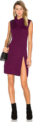BCBGMAXAZRIA Side Slit Sweater Dress in Purple $198 thestylecure.com