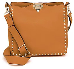 Valentino Garavani Women's Small Rockstud Leather Hobo Bag