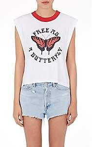 Off-White Off - White c/o Virgil Abloh Women's Free As A Butterfly Cotton-Linen T-Shirt - White