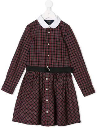Ralph Lauren Kids check belted dress