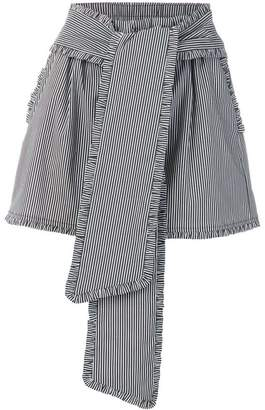 MSGM striped high waisted shorts