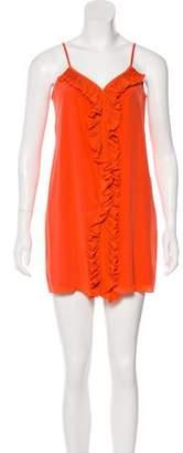 Tibi Ruffled-Trim Mini Dress