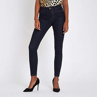 River Island Dark blue mid rise Molly skinny jeggings