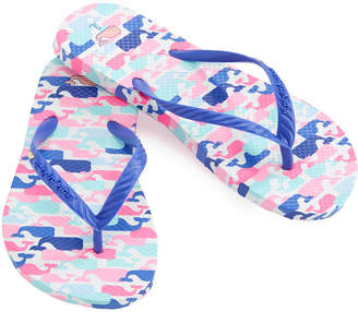 Vineyard Vines Girls Multi Whale Flip Flops