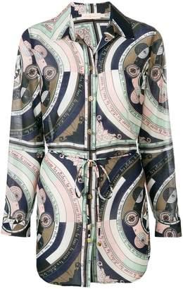 Tory Burch constellation tied waist shirt