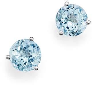 Bloomingdale's Aquamarine Stud Earrings in 14K White Gold - 100% Exclusive