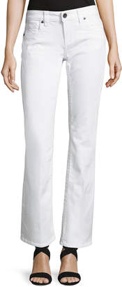 Kut from the Kloth Natalie Flap-Pocket Boot-Cut Jeans, White $59 thestylecure.com