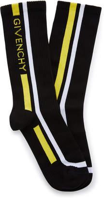 Givenchy Logo Stripe Crew Sock